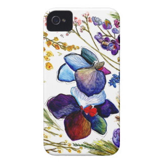 Wild Blue Orchid IPhone case
