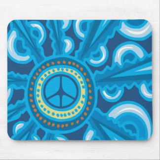 Wild Blue Yonder with Peace Sign Mouse Pad