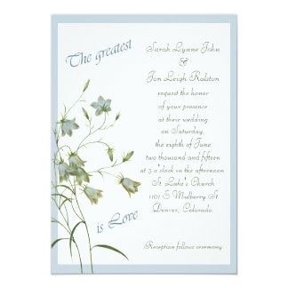 Wild Bluebell Greatest Love Wedding 13 Cm X 18 Cm Invitation Card