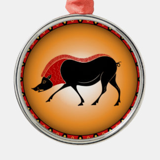 Wild boar christmas ornament