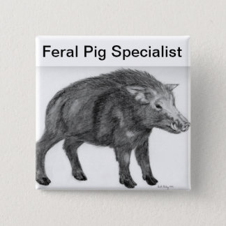 Wild Boar, Defensive Stance 15 Cm Square Badge