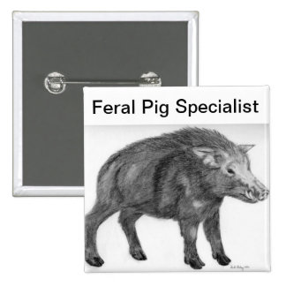 Wild Boar, Defensive Stance 15 Cm Square Badge