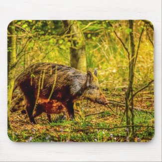 Wild Boar Mouse Pad