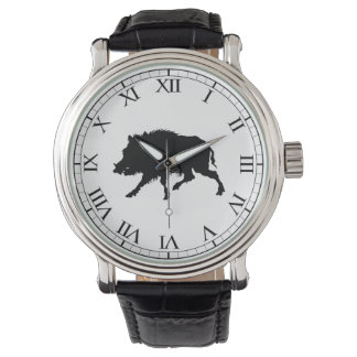 Wild Boar or Wild Pig Elegant Silhouette Watch