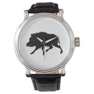 Wild Boar or Wild Pig Elegant Silhouette Watch