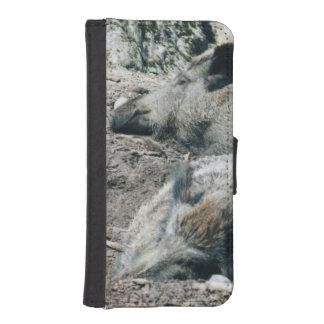 wild boar phone wallet case