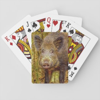 Wild Boar Playing Cards