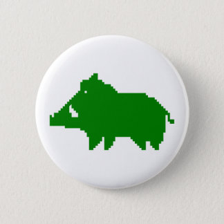 - Wild boar swipes in a HEAT IN ADVANCE 6 Cm Round Badge