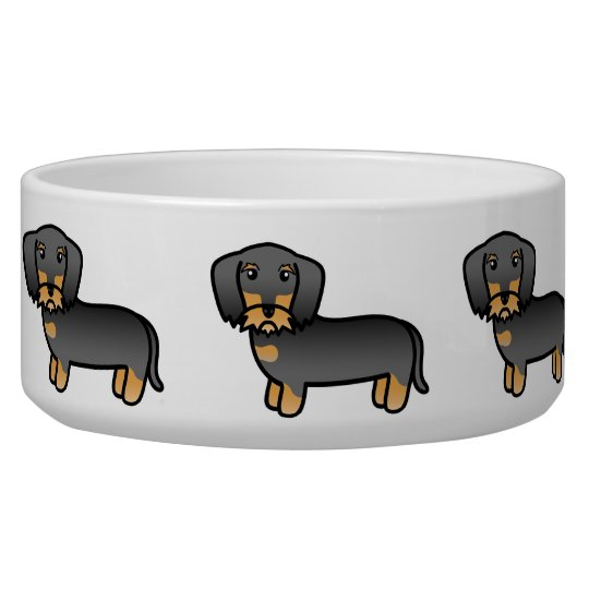 Wild Boar Wirehaired Dachshund Cartoon Dog Dog Water Bowls