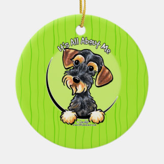 Wild Boar Wirehaired Dachshund IAAM Christmas Ornament