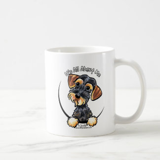 Wild Boar Wirehaired Dachshund Its All About Me Basic White Mug