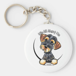 Wild Boar Wirehaired Dachshund Its All About Me Key Ring