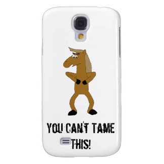 Wild Brown Cartoon Horse Samsung Galaxy S4 Case