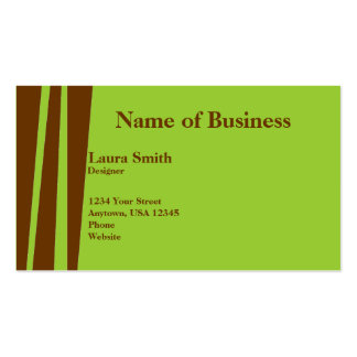 Wild Brown & Olive 2 Business Card Template