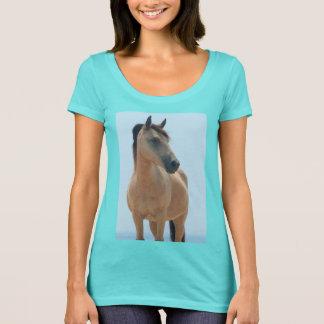 Wild buckskin mare of Assateague t-shirt