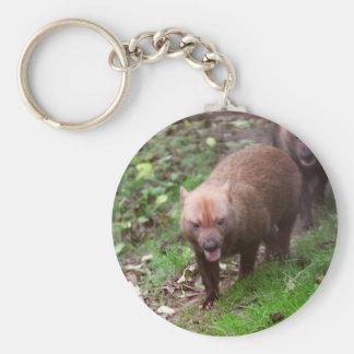 Wild Bush dogs walking Basic Round Button Key Ring
