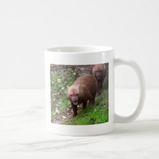 Wild Bush dogs walking Basic White Mug