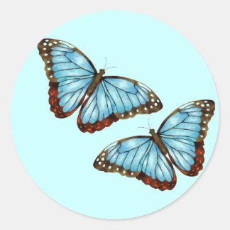 Wild Butterflies Classic Round Sticker