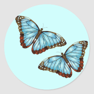 Wild Butterflies Round Sticker