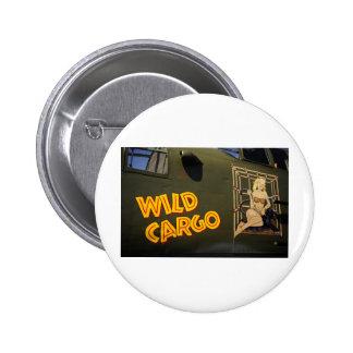 'Wild Cargo' Nose Art 6 Cm Round Badge