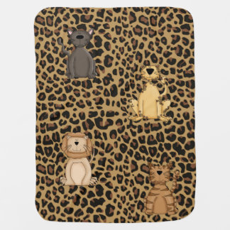 Wild Cat Animal Print Baby Blanket