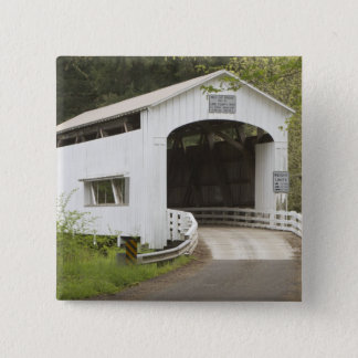 Wild Cat covered bridge, Lane County, Oregon 15 Cm Square Badge