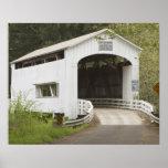 Wild Cat covered bridge, Lane County, Oregon Poster