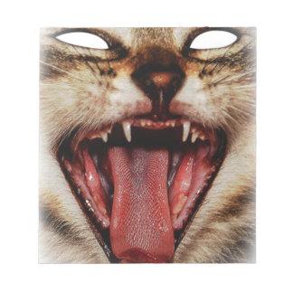 Wild Cat Crazy Mask Animal Design Notepad