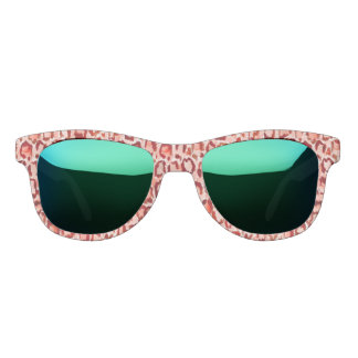 WILD CAT Safari Leopard Print Watercolor Sunglasses