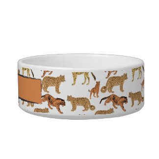 Wild Cats Pattern Bowl