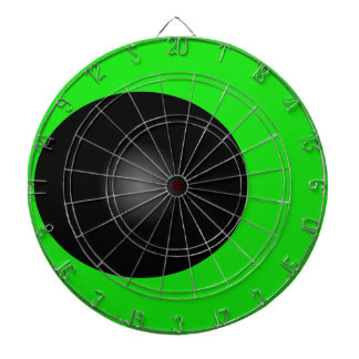 Wild Challenging Darts Game Board Lime Black Dartboard