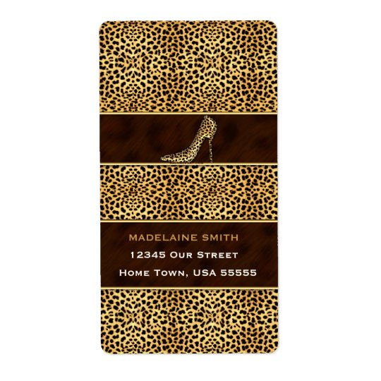 Wild Cheetah Animal Print for Her Shipping Label