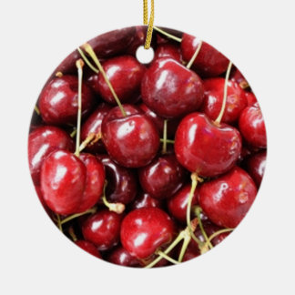 Wild Cherries Christmas Ornament