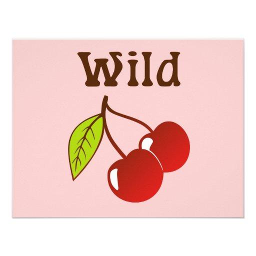 Wild Cherries Custom Invites