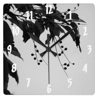 Wild Cherries Square Wall Clock