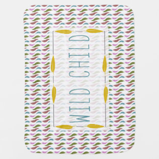 Wild Child and Feathers Baby Blanket