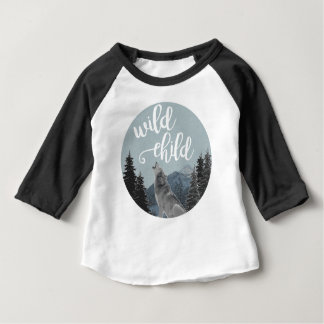 Wild Child Baby Baseball T Baby T-Shirt