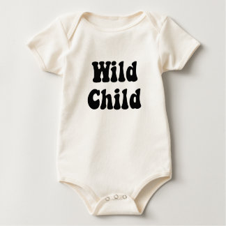 Wild Child Cream Body Suit Baby Bodysuit