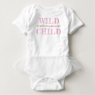 Wild Child feathers beads boho pink baby romper Baby Bodysuit