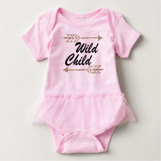 Wild child one sie baby bodysuit