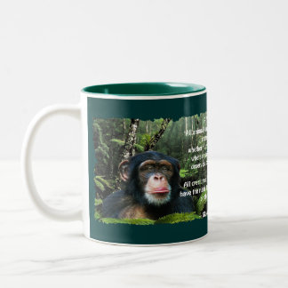 Wild Chimpanzee & Wildlife Poem Mug