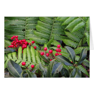 Wild Christmas Berries & Ferns Card