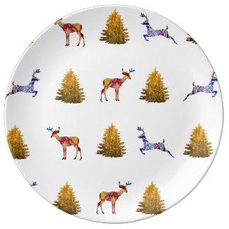 Wild Christmas  Decorative Porcelain Plate