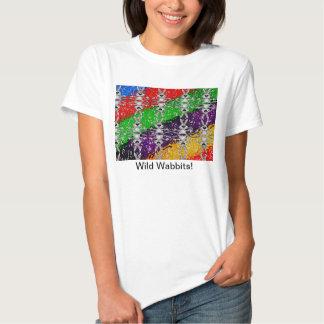 Wild Colorful Rabbit Pattern T-shirts