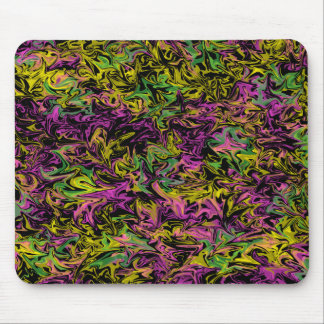 Wild Colors on Black Background Mousepad