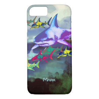 wild cool sharks colorful iPhone 7 case