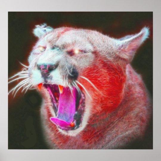 Wild *Cougar* Spirit Art Poster Print