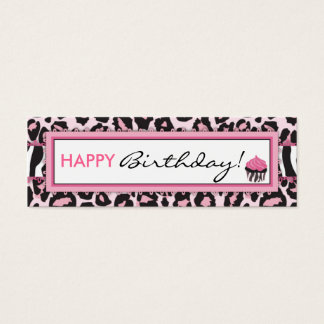 Wild Cupcake WP Skinny Gift Tag Mini Business Card
