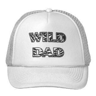 WILD DAD Zebra Stripe Trucker Hat