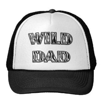 """WILD DAD"" Zebra Stripes Design (Vertical) Cap"